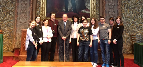 Young Europeans meeting with vice-mayor of The Hague